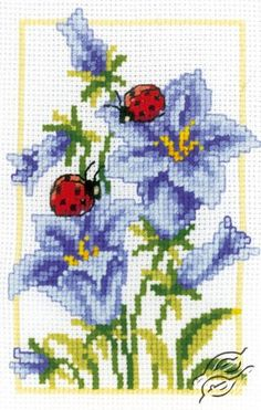 Bells Flowers - Cross Stitch Kits by VERVACO - PN-0146885