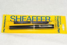 VINTAGE NOS Sheaffer No Nonsense Fountain Pen MED PT Sealed  - BLACK 2 LEFT #Sheaffer