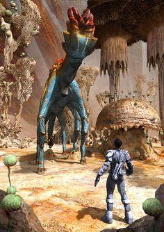 Inhabitant by Simon Webber January 26 2019 at Alien Creatures, Fantasy Creatures, Arte Horror, Horror Art, Space Opera, Arte Sci Fi, 70s Sci Fi Art, Alien Concept Art, Alien Planet