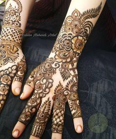 Indian Henna Designs, Floral Henna Designs, Basic Mehndi Designs, Back Hand Mehndi Designs, Latest Bridal Mehndi Designs, Wedding Mehndi Designs, Mehndi Designs For Fingers, Dulhan Mehndi Designs, Latest Mehndi Designs