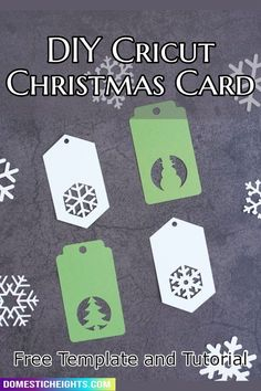 easy free svg for christmas DIY project gifts Cricut Christmas Cards, Cricut Cards, Christmas Gift Tags, Holiday Cards, Christmas Diy, Diy Home Crafts, Easy Crafts, Snowflake Cards, Gifts