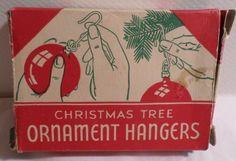 Vintage Christmas, National Tinsel Christmas, Brooklyn, Tinsel, Christmas Ornament, Ornament Hanger box, Ornament Hanger, Vintage Christmas by DeliciasCastle on Etsy