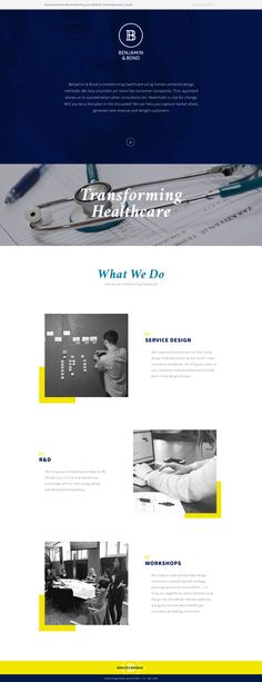 35+ Clean and Creative Website Design ideas for Inspiration    simple and clean medical website design landing page layout idea