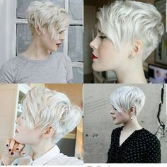 Today we have the most stylish 86 Cute Short Pixie Haircuts. We claim that you have never seen such elegant and eye-catching short hairstyles before. Pixie haircut, of course, offers a lot of options for the hair of the ladies'… Continue Reading → Blonde Haircuts, Pixie Hairstyles, Short Hair Cuts For Women, Short Hairstyles For Women, Cheveux Oranges, Natural Straight Hair, Naturally Straight, Straight Weave Hairstyles, Corte Y Color