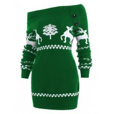 SHARE & Get it FREE | Off The Shoulder Reindeer Knit Tunic SweaterFor Fashion Lovers only:80,000+ Items·FREE SHIPPING Join Dresslily: Get YOUR $50 NOW!
