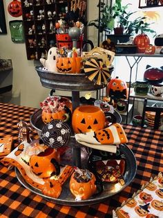 Rivet Galvanized Metal Stand At Pottery Barn - Tabletop - Trays & Stands : Halloween decor Halloween Living Room, Halloween Home Decor, Diy Halloween Decorations, Holidays Halloween, Halloween Treats, Halloween Party, Halloween Celebration, Halloween Entryway, Halloween Appetizers
