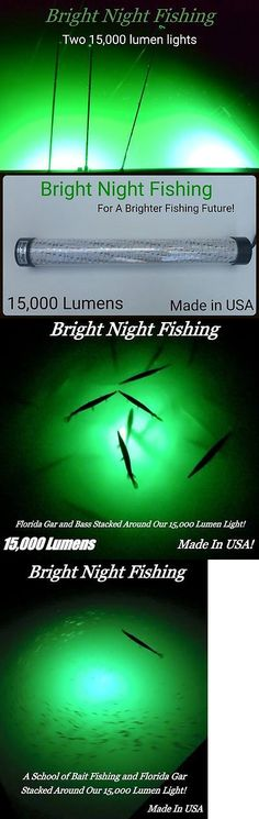 lights 123489: 12v maxx led green underwater submersible night, Reel Combo