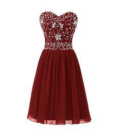 7accb84a14 Burgundy Homecoming Dress