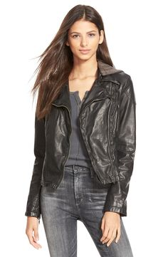 92f1dacca3699 Free People Hooded Faux Leather Moto Jacket. Size 8. Free People Leather  Jacket