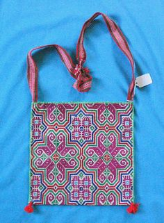 Huichol Embroidered Bag    Huichol bag from somewhere in Jalisco, Mexico - hand made bags made and carried by Huichol men - for more of Mexico & to add to your collection, visit www.mainlymexican... #Mexico #Mexican #Huichol