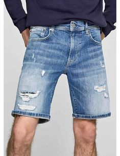 Bermudas Pepe Jeans Denim Cane Para Hombre Pepe Jeans, Denim Shorts, Men, Outfits, Fashion, Bermudas, Moda Masculina, Men's, Men's Clothing
