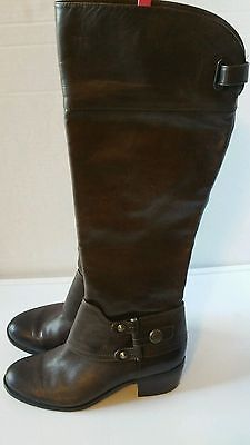 Brown Leather Arturo Chiang Boots size 8 knee high riding NWOB free gift