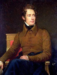 France. Portrait of french poet Alphonse De Lamartine (1790-1869), 1831…