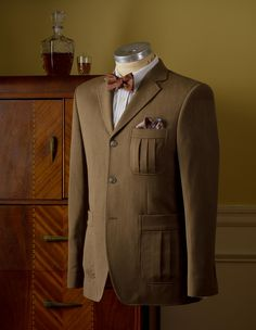 The Calloway Deco Pleat Jacket website: prohibitionclothing.com Neat style!