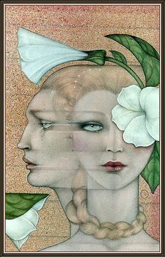 AstroSpirit / Gemini ♊  / Air / The Twins / Mel Odom Art Deco Artist