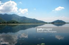Scenic view of Dal Lake. Reflection of clouds and mountain from Shikara boat, Srinagar, Kashmir, India, Asia. Lake, Mirror, Ancient, Beauty, Cloud - Sky, Colour Image, Dawn, Dusk, Heat, Hill, Horizontal, House Boat, Landscape, Lily, Lush, Meadow, Morning, Mountain, Mountain Peak, Mountain Range, Nature, Nautical Vessel, No People, Obsolete, Outdoors, Photography, Plant, Reflection, Scenics, Shikara, Sky, Snow, Snowcapped Mountain, Summer, Tourist, Tranquility, Travel, Valley, Water, Winter