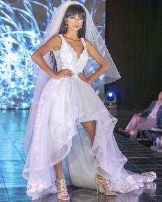 Trend Of The Year: 24 High Low Wedding Dresses ❤ high low wedding dresses sweetheart neckline lace with straps mariadelpilarbridal #weddingforward #wedding #bride
