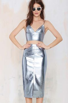 Pippa Lynn Super Freak Vegan Leather Skirt