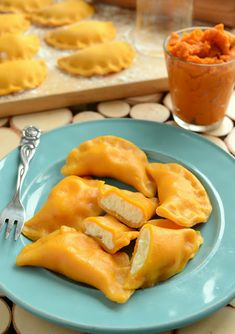 Pumpkin dumplings with cheese - Fit Kitchen Recipes, Cooking Recipes, My Favorite Food, Favorite Recipes, Magic Recipe, Dumplings, Fall Recipes, Food Styling, Food Inspiration