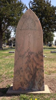 A Viking-like headstone in the Lindsborg, KS cemetery. Lindsborg is a Swedish-founded town in central Kansas. Neat little town that has kept its heritage intact.