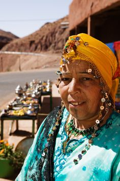 Morocco, Dades Valley-DADES GORGE, Older Women in Traditional Berber Attire