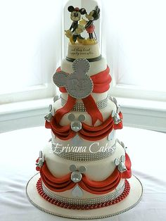 disney theme bridal shower  | Pin Disney Themed Weddings Sample Invitations Wedding Programs Cake on ...