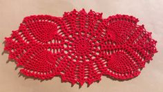 Oval crochet doily new hand crocheted doilies red doily