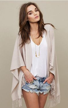 loving this fringe open cardy