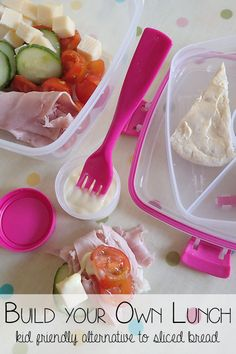 Build your own lunch - a kid friendly alternative to sliced bread lunch box that they can make the night before with you