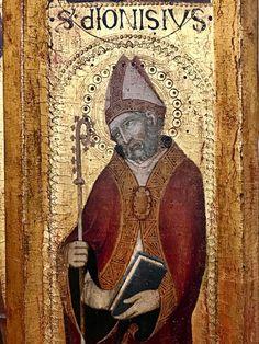 9 octobre - saint Denys, premier évêque et patron du diocèse de Paris, martyr. (Musée de la cathédrale de Sienne).