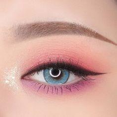 Pink Eye Makeup, Makeup Eye Looks, Eye Makeup Art, Colorful Eye Makeup, Cute Makeup, Pretty Makeup, Makeup Inspo, Eyeshadow Makeup, Makeup Cosmetics