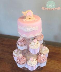 Girls Christening cake & cupcakes Grain & Glory- Making life a little Sweeter Baby Shower Cakes, Baby Shower Themes, Christening Cake Girls, Themed Birthday Cakes, Girl Cakes, Pretty Cakes, Celebration Cakes, Girl Stuff, Communion