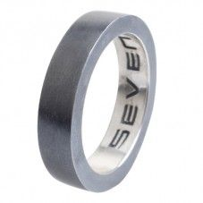 £17.95 (from £60) Seven Sterling Silver 5mm Oxidised Mens Ring AR1847