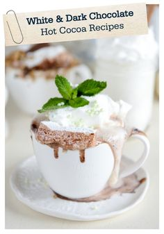 These unique, hot cocoa recipes include a slew of special toppings! Treat your kids to a steaming mug of these incredible flavors after an afternoon playing in the snow!
