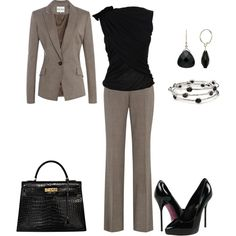 Classic Black & Grey, created by ds-thomas on polyvore.com