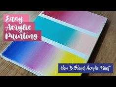 How To Blend Acrylic Paints | Simple Silhouette Paintings | Easy Painting Ideas - YouTube Silhouette Painting, Acrylic Canvas, Easy Paintings, Hello Everyone, Beach Mat, Outdoor Blanket, Simple, Youtube, Ideas