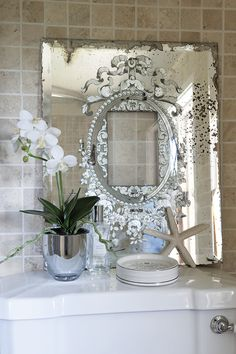 Impressive Tips Can Change Your Life: Wall Mirror Above Couch Artworks decorative wall mirror cabinets.Wall Mirror Collage Color Schemes framed wall mirror entry ways. Mirror Wall Collage, Mirror Painting, Mirror Art, Diy Mirror, Frames On Wall, Framed Wall, Trumeau Mirror, Mirror Makeover, Mirror Vanity