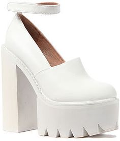 Jeffrey Campbell The Scully Platform in All White on shopstyle.com
