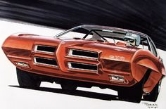 retro-awesome « All The Sketches.  1969 GTO.