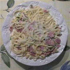 Fettuccine Alfredo with Ham