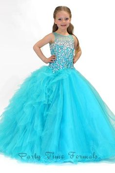 Discount Crystals Sheer Neck Girls Pageant Dress Stunning Sky Blue Cyan Little Girl's Ball Gown Formal Dresses Birthday Christmas Gift Present Gifts Online with $96.2/Piece on First_lady_dress's Store | DHgate.com