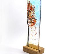 Image result for wooden support for fused glass panel