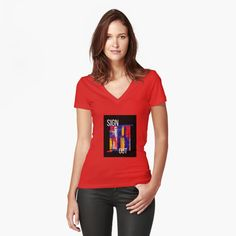 Promote | Redbubble Turquoise And Purple, Red And Pink, Orange Red, Impression Sur Tee Shirt, Graffiti, T Shirt Original, Flower Shirt, Retro Flowers, Art Abstrait