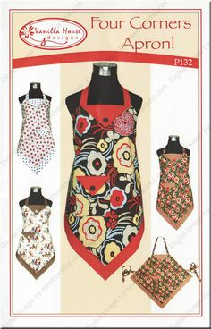 Vanilla House Designs: Four Corners Apron - perfect for beginner sewers!