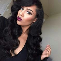 Cheap brazilian full lace wigs, Buy Quality wig with baby hair directly from China human hair wigs Suppliers: Brazilian Virgin Hair Body Wave Full Lace Human Hair Wigs With Baby Hair Lace Front Human Hair Wigs Brazilian Full Lace Wigs Remy Human Hair, Human Hair Wigs, Weave Hairstyles, Pretty Hairstyles, Amazing Hairstyles, Black Hairstyles, Lace Front Wigs, Lace Wigs, Curly Hair Styles