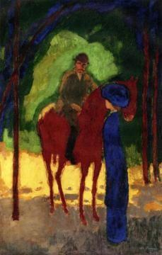 Kees van Dongen (1877-1968)- Even later sloten Emil Nolde, Max Pechstein, Otto Mueller en Cuno Amiet zich bij dit viertal aan. De Nederlandse schilder Kees van Dongen was ook enige tijd betrokken bij Die Brücke.