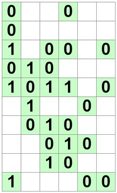 Number Logic Puzzles: 24361 - Binary size 2