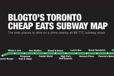 The top 69 cheap eats in Toronto by TTC subway stop aka reference for my trips downtown Latin America Map, Toronto Bars, Nyc Subway Map, Bread And Roses, Brighton Map, France Map, Australia Map, Romantic Mood, Canada Travel