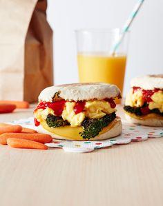 Egg, Cheese & Broccoli Breakfast Sandwich