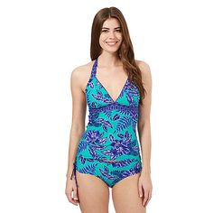 Mantaray Green floral tankini top- | Debenhams